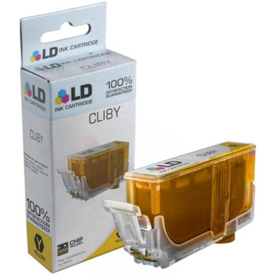 LD Compatible Replacement for Canon CLI8Y Ink Cartridge Includes: 1 Yellow 0623B002