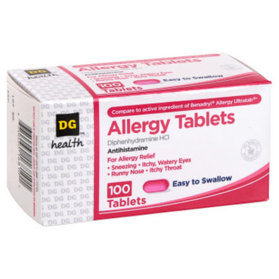 DG Health Allergy Tablets - 100 ct