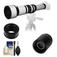 Samyang 650-1300mm f/8-16 Telephoto Lens (White) (T Mount) with 2x Teleconverter (=2600mm) + Cleaning Kit for Samsung NX20, NX200, NX210 & NX1000 Digital Cameras
