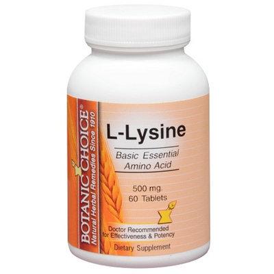 Botanic Choice L-Lysine 500 mg Dietary Supplement Tablets