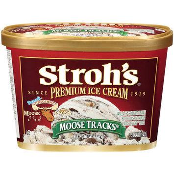 Stroh's Premium Moose Tracks Ice Cream, 1.5qt