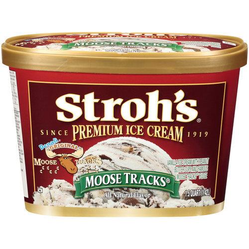 Moose tracks ice cream cone
