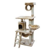 Kitty Mansions Boston Cat Tree - Brown