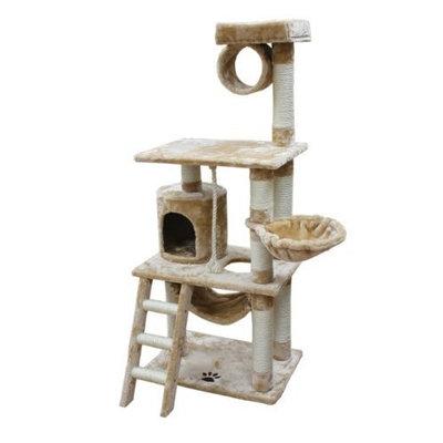 Kitty Mansions Boston Cat Tree - Brown