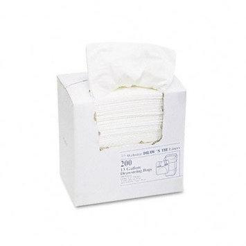 Draw 'n Tie Heavy-Duty Trash Bags 13 gal .9mil 24.5 x 27 3/8 White 200/Box (Draw 'n Tie WEB1DK200)