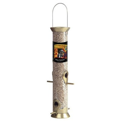 Droll Yankees CJM15HG 15-Inch Heirloom Gold 4 Port Sunflower Tube Feeder (Discontinued by Manufacturer)