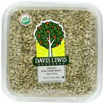 Davis Lewis Orchards Raw Fancy Organic Sunflower Seeds, 14 Ounce