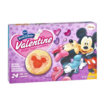 Pillsbury Ready To Bake Disney Valentine Shape Pre-Cut Sugar Cookies - 24 CT
