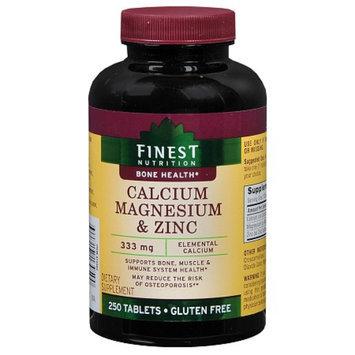 Finest Nutrition Calcium 33 mg Magnesium & Zinc Dietary Supplement Tablets