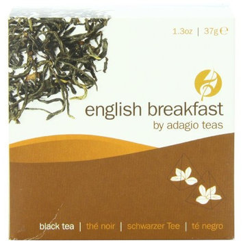 Adagio Teas Black Tea, English Breakfast, Tea Bags, 15-Count Package (Pack of 3)