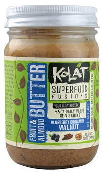 Kolat Superfood Fusions Fruit and Almond Butter Blueberry Cinnamon Walnut 12 oz - Vegan