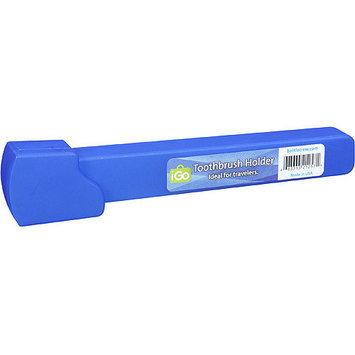 iGo Square Toothbrush Holder, Blue