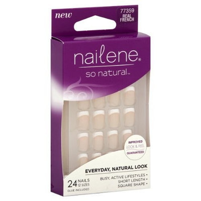 Nailene So Natural Nails, Real French, 24 ct.