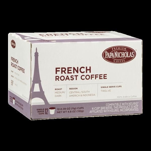Papa Nicholas French Roast Coffee Single Serve Cups - 12 CT Reviews 2019