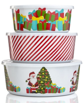 Martha Stewart Collection Set of 3 Holiday Vintage Paper Nesting Container Bowls