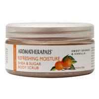 Aromatherapaes Shea & Sugar Scrub, Refreshing Moisture, Sweet Orange & Vanilla, 8.25 oz
