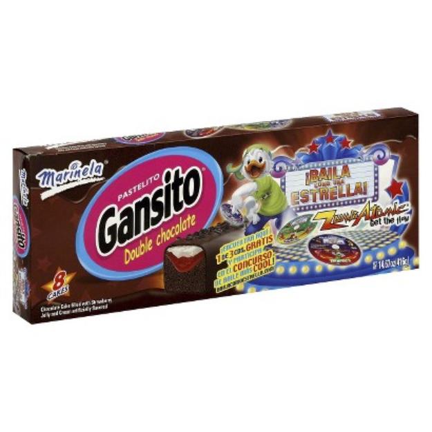 Bimbo Bakeries, USA Marinela Gansito Double Chocolate Cakes 8 ct