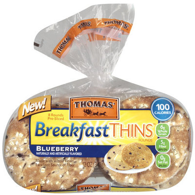 Arnold Thomas' Blueberry Breakfast Thins Rounds, 8 count