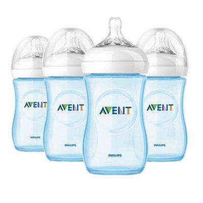 Avent Natural 9 oz Blue Bottle, Polypropylene