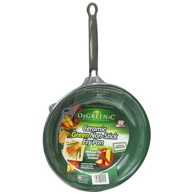 Orgreenic Ceramic Green Non-Stick Fry Pan 10