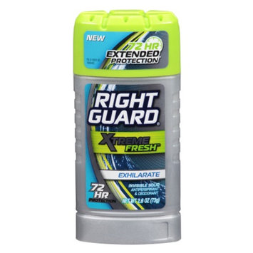 Right Guard Xtreme Fresh Antiperspirant & Deodorant Invisible Solid Exhilarate