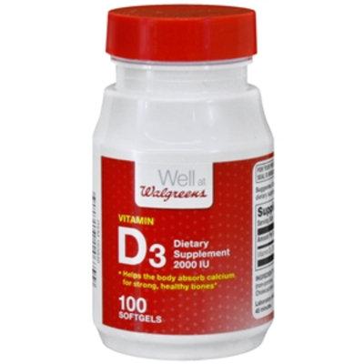 Walgreens Vitamin D3 2000 IU Dietary Supplement Softgels, 100 ea