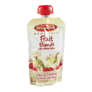 Beech Nut Homestyle Fruit Blends Pear & Raspberry Puree with Oat