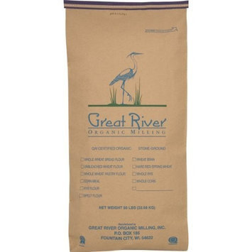 Great River Organic Milling Organic Whole Grains Hard Red Spring Wheat, 50-Pounds