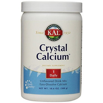 KAL Crystal Calcium Unflavored Powder, 1000 mg, 10.6 Ounce