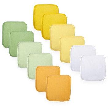 Koala Baby Neutral Washcloths 12 Pack - Yellow/Green