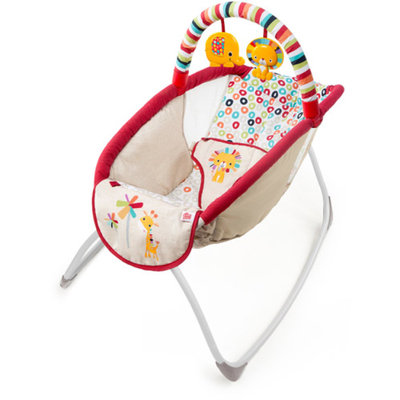 Bright Starts Playful Pinwheels Playtime to Bedtime Rocking Sleeper