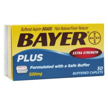 Bayer Extra Strength 500mg Buffered Caplets, 50 ea