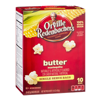Orville Redenbacher's Gourmet Popping Corn Naturals Butter Single Serve Bags