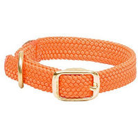 Mendota Double Braided Collar 1 inch x 18 inches Orange