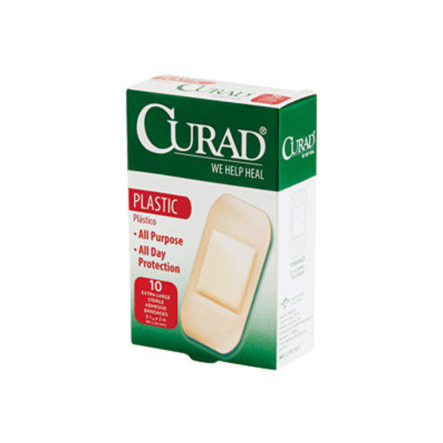 "Curad XL Plastic Bandages, 2"" x 4"", 10 ct, 24 Boxes per Case"