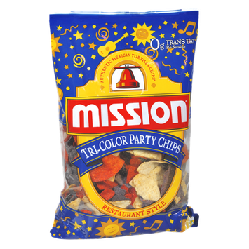Mission Restaurant Style Tri-Color Party Chips
