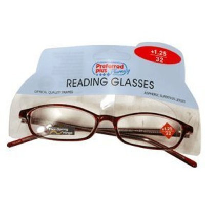 Preffered Plus Glasses-reading 1.25 Magnification
