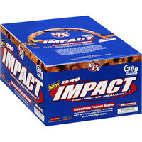 Zero Impact Chocolate Peanut Butter High Protein Meal Replacement Bars