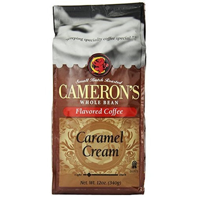 Camerons CAMERON'S Whole Bean Coffee, Caramel Cream, 12-Ounce
