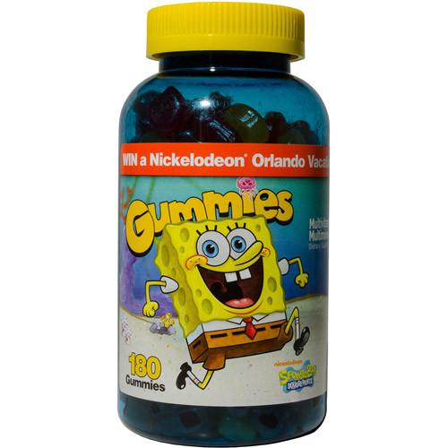 SpongeBob SquarePants Gummies Multivitamin Gummies, 180 count