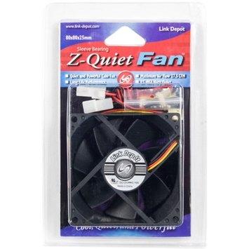 Link Depot 80mm LED Computer Case Fan, Black