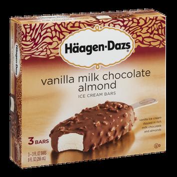 Häagen-Dazs Vanilla Milk Chocolate Almond Ice Cream Bars - 3 CT