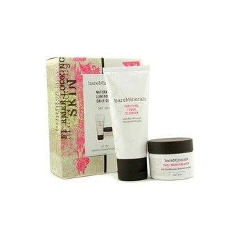 Bare Escentuals Naturally Luminous Daily Duo (Dry Skin): Cleanser + Nourishing Cream - 2pcs