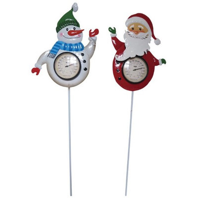 Horseloverz Holiday Thermometer Garden Stakes