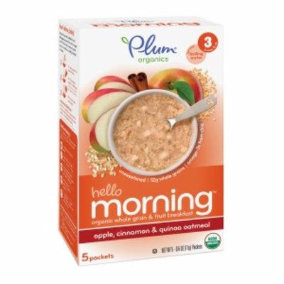 Plum Organics Baby Quick Meals, Apple, Cinnamon & Quinoa Oatmeal, 5 ea