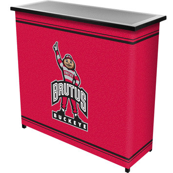 Trademark Global Games Trademark Global The Ohio State University 2 Shelf Portable Bar w/ Case
