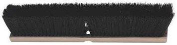 LAITNER 347 Push Broom Head, Synthetic, Brown,2-7/8in