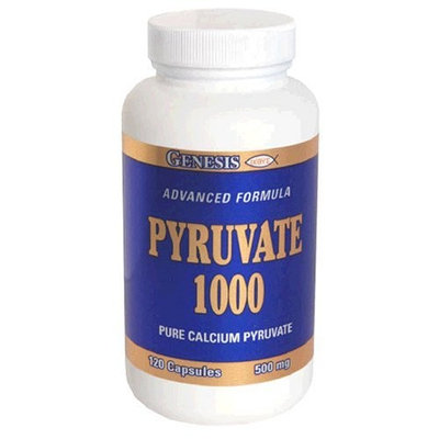 Genesis Nutrition Pyruvate 1000, 120-Count