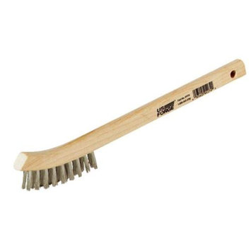 Forney Industries 70506 Curved Handle Wire Brush-STAINLESS STEEL BRUSH