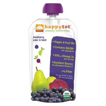 Happy Tot Happy Baby Fruit & Vegetable Pouch - Blueberry, Pear, & Beet 4.22 oz